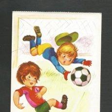 Coleccionismo deportivo: POSTAL SIN CIRCULAR - DIBUJO FUTBOL - FUTBOLEROS 6 - EDITA BERGAS. Lote 137300154