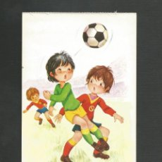 Coleccionismo deportivo: POSTAL SIN CIRCULAR - DIBUJO FUTBOL - FUTBOLEROS 5 - EDITA BERGAS. Lote 137300246