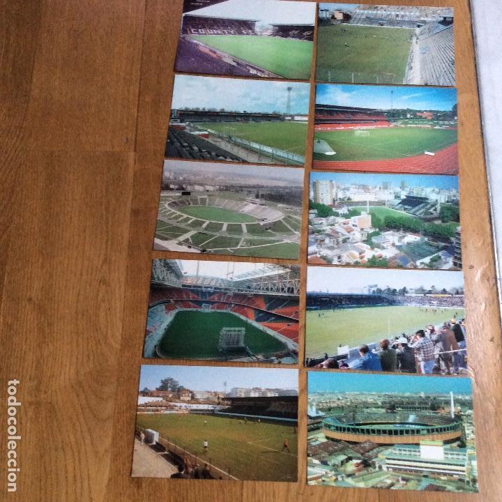 LOTE 10 POSTALES DE CAMPOS DE FÚTBOL INTERNACIONALES SE VENDEN TAMBIÉN SUELTAS (Coleccionismo Deportivo - Postales de Deportes - Fútbol)