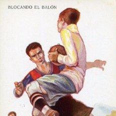 Coleccionismo deportivo: FUTBOL-BARÇA- BLOCANDO EL BALÓN--- CERVELLÓ Nº 1228 .MUY RARA ED. VICTORIA. Lote 139812386