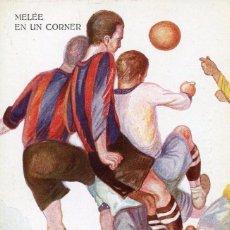 Coleccionismo deportivo: FUTBOL-BARÇA-MELEÉ EN UN CORNER- CERVELLÓ Nº 1227 .MUY RARA. Lote 139814282
