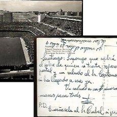 Coleccionismo deportivo: POSTAL * ESTADIO SANTIAGO BERNABEU * AÑO 1957. Lote 140024414