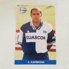 Collectionnisme sportif: POSTAL KARMONA (ALAVÉS) OFICIAL. Lote 141723162