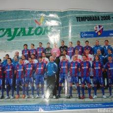 Coleccionismo deportivo: POSTER SD HUESCA FÚTBOL 2008-2009 / MEDIDAS 50X40. Lote 142112668