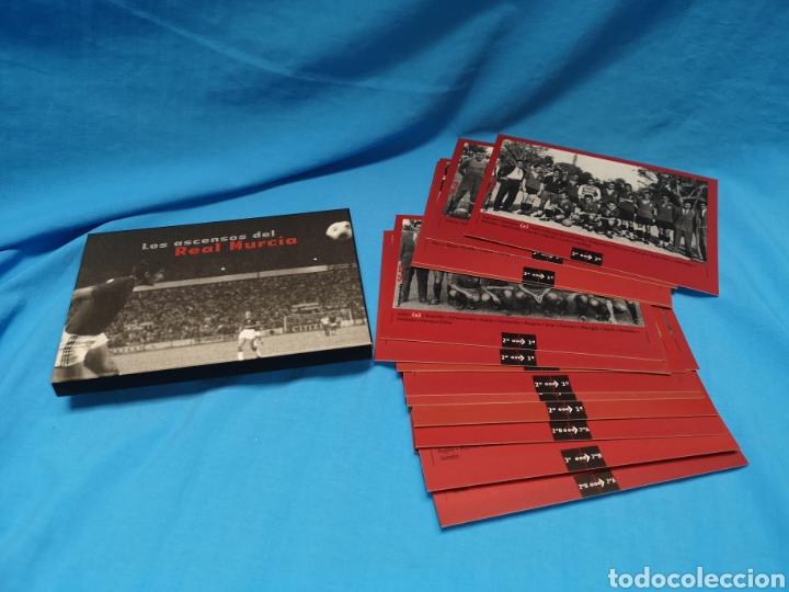 Coleccionismo deportivo: Colección los ascensos del Real Murcia. 16 postales en su caja. Nuevas sin uso - Foto 4 - 142151502