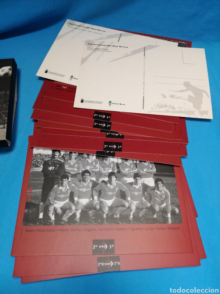 Coleccionismo deportivo: Colección los ascensos del Real Murcia. 16 postales en su caja. Nuevas sin uso - Foto 5 - 142151502