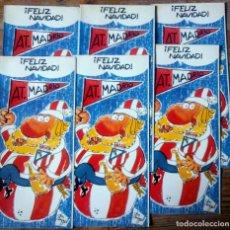 Colecionismo desportivo: AT. MADRID. FELIZ NAVIDAD. 6 FELICITACIONES DIPTICO. DIB DON ANGEL. 1973.SIN ESCRIBIR.. VELL I BELL. Lote 142537070