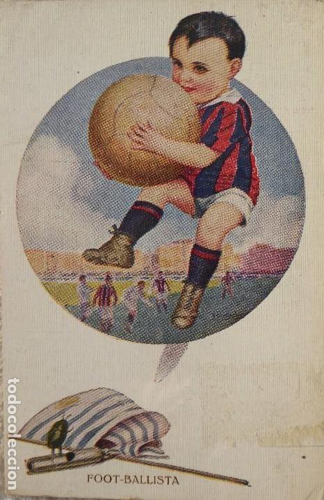FUT-22. FOOT-BALLISTA. POSTAL PRINCIPIOS SIGLO XX. ILUSTRACION DE CHANTECLER. Nº 590. (Coleccionismo Deportivo - Postales de Deportes - Fútbol)