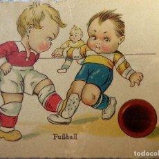 Coleccionismo deportivo: FUT-23. ANTIGUA POSTAL ALEMANA NIÑOS FUTBOLISTAS. AÑO 1931. CIRCULADA.. Lote 143320738