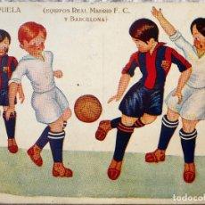 Coleccionismo deportivo: FUT-24. REAL MADRID F.C. - BARCELONA. UNA ESPUELA. ILUSTRACIÓN DE HERTOGS. AÑO 1925.. Lote 143322002