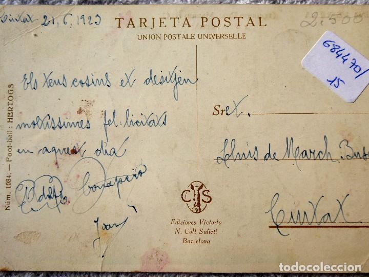 Coleccionismo deportivo: FUT-24. REAL MADRID F.C. - BARCELONA. UNA ESPUELA. ILUSTRACIÓN DE HERTOGS. AÑO 1925. - Foto 2 - 143322002