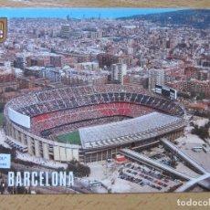 Coleccionismo deportivo: POSTAL - ESTADIO FUTBOL CLUB BARCELONA VISTA AEREA - ESCUDO ORO. Lote 148333382