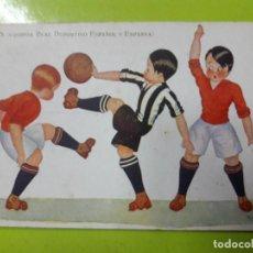 Coleccionismo deportivo: POSTAL GEMS ESPANYA Y ESPAÑOL EDICIONES VICTORIA AÑOS 20. Lote 148813682