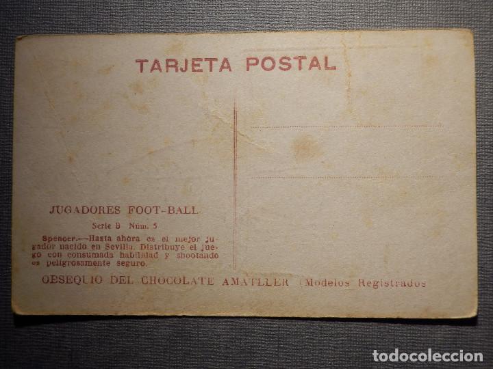 Coleccionismo deportivo: POSTAL AMATLLER - SERIE B NUM. 5, SEVILLA CLUB DE FUTBOL - CAMPEÓN DEL SUR ESPAÑA 1921-22 - SPENCER - Foto 2 - 150091466