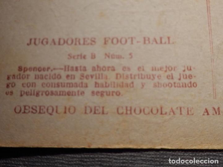 Coleccionismo deportivo: POSTAL AMATLLER - SERIE B NUM. 5, SEVILLA CLUB DE FUTBOL - CAMPEÓN DEL SUR ESPAÑA 1921-22 - SPENCER - Foto 3 - 150091466