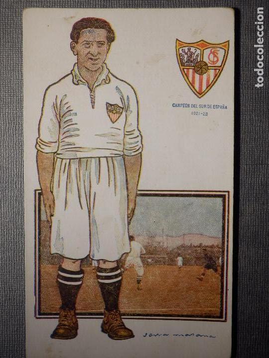 POSTAL AMATLLER - SERIE B NUM. 1, SEVILLA CLUB DE FUTBOL - CAMPEÓN SUR ESPAÑA 1921-22 - ARMET KINKÉ (Coleccionismo Deportivo - Postales de Deportes - Fútbol)