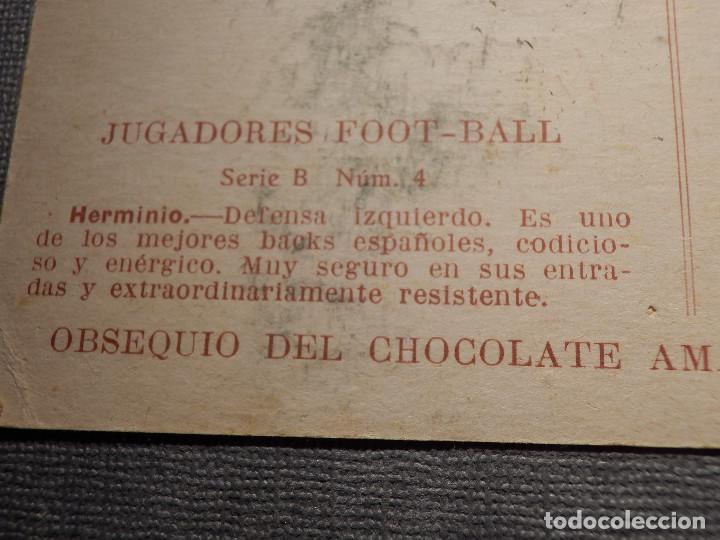 Coleccionismo deportivo: POSTAL AMATLLER - SERIE B NUM. 4, SEVILLA CLUB DE FUTBOL - CAMPEÓN SUR ESPAÑA 1921-22 - HERMINIO - Foto 3 - 150092974