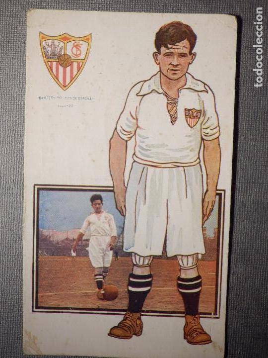 POSTAL AMATLLER - SERIE B NUM. 4, SEVILLA CLUB DE FUTBOL - CAMPEÓN SUR ESPAÑA 1921-22 - HERMINIO (Coleccionismo Deportivo - Postales de Deportes - Fútbol)