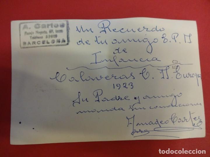 Coleccionismo deportivo: C.D. EUROPA. Postal homenaje antiguo miembro del Infantil CALAVERAS muerto en Guerra del Rif - Foto 2 - 150255666