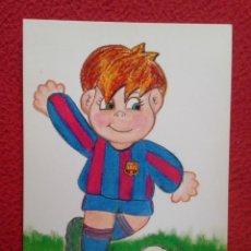 Coleccionismo deportivo: POSTAL POST CARD CARTE POSTALE FÚTBOL CLUB BARCELONA CARICATURA CARTOON FOOTBALL MERCÈ TANYÀ SOCCER . Lote 151252698