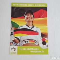 Coleccionismo deportivo: POSTAL PUBLICITARIA SELECCIÓN ALEMANIA AÑO 2006. Lote 151308226