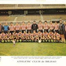 Coleccionismo deportivo: POSTAL, GRAN FORMATO, ATHLETIC CLUB DE BILBAO AÑO 1972, 27X21 CMS. RARA.. Lote 151370450