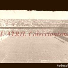 Coleccionismo deportivo: MADRID - ESTADIO FUTBOL CHAMARTIN, TERRENO JUEGO - CLICHE EN CRISTAL - EDICIONES ARRIBAS - AÑOS 1950. Lote 151425746