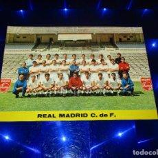 Coleccionismo deportivo: POSTAL REAL MADRID C. DE F. - PLANTILLA TEMPORADA 72-73 - G-327 - SIN CIRCULAR. Lote 151619890