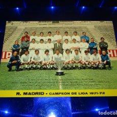 Coleccionismo deportivo: POSTAL REAL MADRID C.F. - CAMPEON DE LIGA TEMPORADA 1971-72 - PLANTILLA - G-326 - SIN CIRCULAR. Lote 151621414