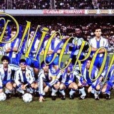 Coleccionismo deportivo: FOTOGRAFIA EQUIPO FUTBOL RCD ESPAÑOL ESPANYOL 1987 1988 MUY BUENA CALIDAD TAMAÑO 10X15 NICCROMO. Lote 151901970