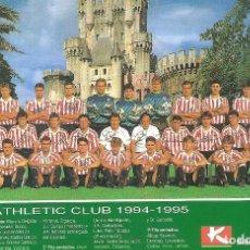 Coleccionismo deportivo: POSTAL ATH. BILBAO 1994/95 94/95 . Lote 152446646