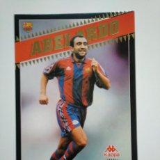 Coleccionismo deportivo: LAMINA DE CARTON. ABELARDO. BARÇA. F.C. BARCELONA 98. 1998. KAPPA SPORT. TDKR37. Lote 152781878