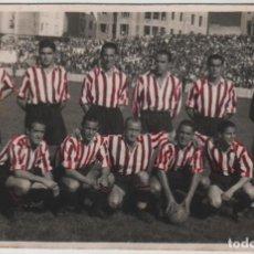 Coleccionismo deportivo: POSTAL FOTOGRÁFICA ALINEACION ATHLETIC CLUB DE BILBAO DEL AÑO 1947 ZARRA PANIZO GAINZA ETC.... Lote 153190870