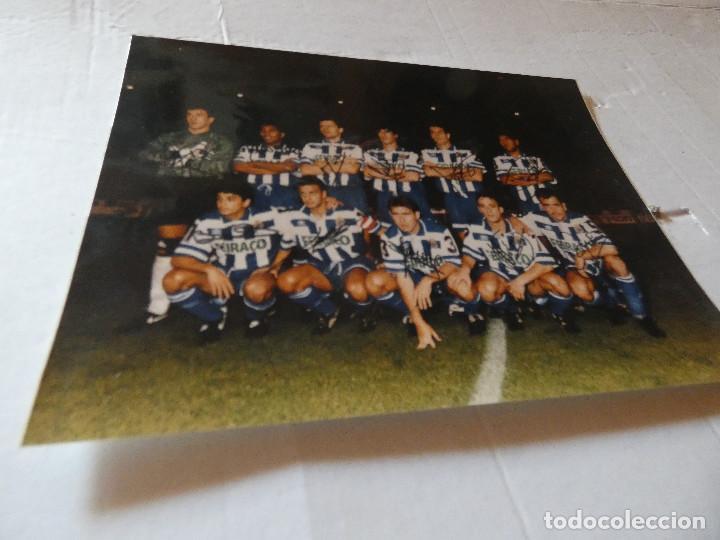 TREMENDA FOTOGRAFIA CREO QUE FIRMADA A MANO SUPER DEPOR: FRAN, BEBETO, ETC AÑO 1997 APROX (Coleccionismo Deportivo - Postales de Deportes - Fútbol)