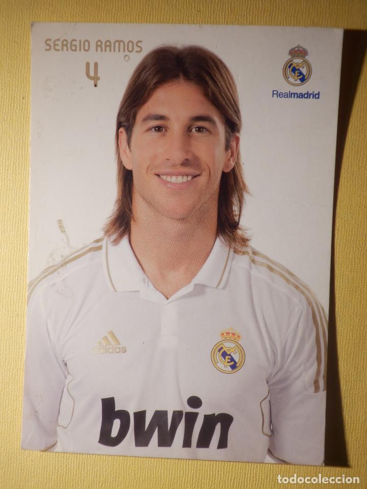 POSTAL - OFICIAL REAL MADRID - 4 - SERGIO RAMOS (Coleccionismo Deportivo - Postales de Deportes - Fútbol)