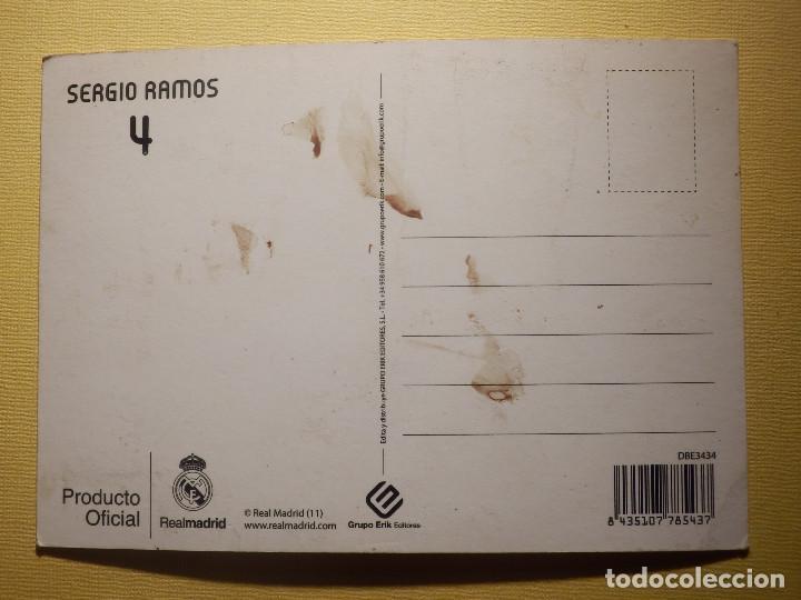 Coleccionismo deportivo: Postal - Oficial Real Madrid - 4 - Sergio Ramos - Foto 2 - 154451498