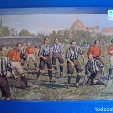 Coleccionismo deportivo: (PS-59778)POSTAL ILUSTRADA FUTBOL - ARCHIVO RELIEVES BASA & PAGES. Lote 155658514