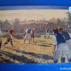 Coleccionismo deportivo: (PS-59777)POSTAL ILUSTRADA FUTBOL - ARCHIVO RELIEVES BASA & PAGES. Lote 155658698