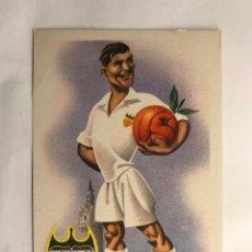 Coleccionismo deportivo: VALENCIA C.F. POSTAL EQUIPOS DE FÚTBOL SERIE A. EDITA: ED. JUFRAN (H.1950?). Lote 156012728