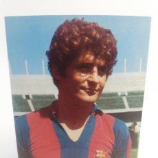Coleccionismo deportivo: POSTAL NARCISO MARTI FILOSIA FC BARCELONA FICHA TECNICA WILLIAMS FUTBOL BARÇA 1973. Lote 156200022