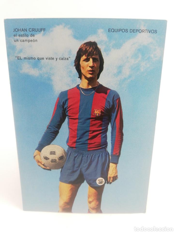 POSTAL JOHAN CRUYFF CRUIJFF FC BARCELONA PUBLICIDAD CRUYFF SPORTS (Coleccionismo Deportivo - Postales de Deportes - Fútbol)