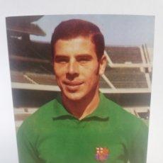 Coleccionismo deportivo: POSTAL MIGUEL REINA FC BARCELONA FICHA TECNICA WILLIAMS BARÇA FUTBOL 1973.. Lote 156208393