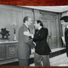 Coleccionismo deportivo: LA SELECCION ESPAÑOLA DE FUTBOL, RECIBIDA POR EL REY JUAN CARLOS I, MUNDIAL DE ARGENTINA 1978, RECIB. Lote 156467958