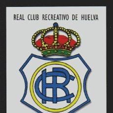 Coleccionismo deportivo: REAL CLUB RECREATIVO DE HUELVA.TARJETA MÁXIMA.AÑO 1.999. Lote 156546846