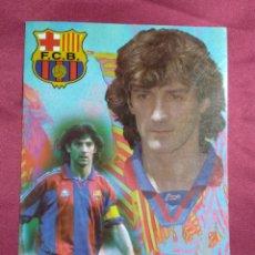 Coleccionismo deportivo: TARJETA POSTAL. JOSE MARI BAKERO JUGADOR DEL FUTBOL CLUB BARCELONA. Lote 159797686