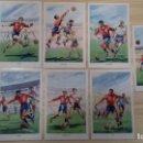 Coleccionismo deportivo: LOTE SIETE ANTIGUAS POSTALES ASES DEL BALÓN SELECCIÓN ESPAÑOLA. Lote 161076334