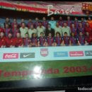Coleccionismo deportivo: GRAN POSTAL 34 X 24 CM. DEL FUTBOL CLUB BARCELONA, F. C. BARÇA, TEMPORADA 2003 - 04 . Lote 161189154