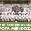 Coleccionismo deportivo: POSTAL REAL MADRID 1994/95 94/95 (21 CM X 15 CM) VOTA MENDOZA. Lote 161288642