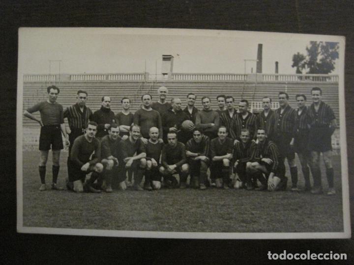 FC BARCELONA-PLANTILLA 1939-PAULINO ALCANTARA-POSTAL FOTOGRAFICA R.CLARET-VER FOTOS-(V-16.677) (Coleccionismo Deportivo - Postales de Deportes - Fútbol)