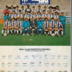 Coleccionismo deportivo: REAL CLUB DEPORTIVO ESPAÑOL / ESPANYOL - PLANTILLA TEMPORADA 1984 - 85 - 21,3 X 24,5 CM.. Lote 162733074